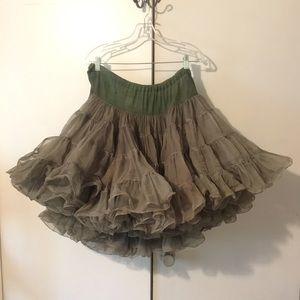 Dresses & Skirts - Fun Vintage Army Green Crinoline Skirt Costume
